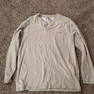 Columbia beige long sleeve shirt